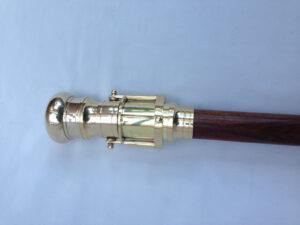 Nautical Antique Brass Handle Walking Stick
