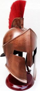 Medieval 300 Spartan Leonidas Movie Replica Helmet Armor With Red Plume Adult Costume