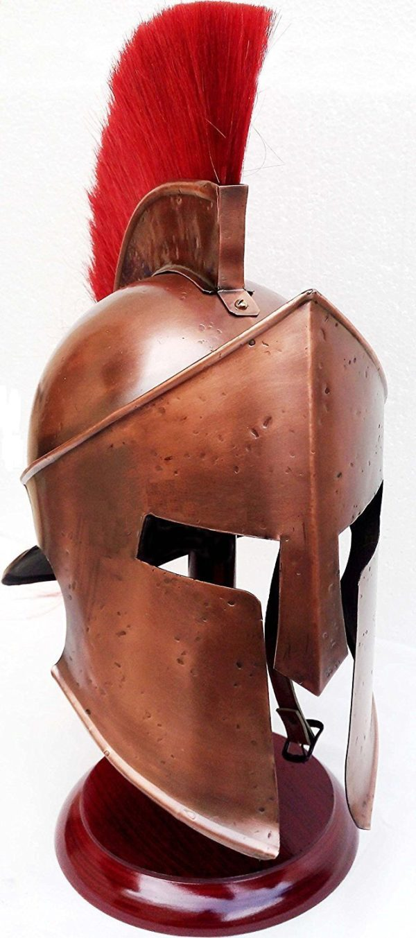 Medieval 300 Spartan Helmet Armor With Red Plume Free Halloween Gift