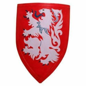 Crusader Lion Shield Red One Size Fit Most Armour SinghBros