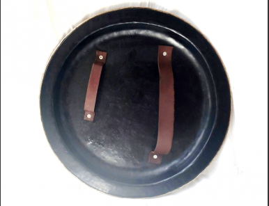 New Armor Shield Handmade Spartan Shield Black & Chrome