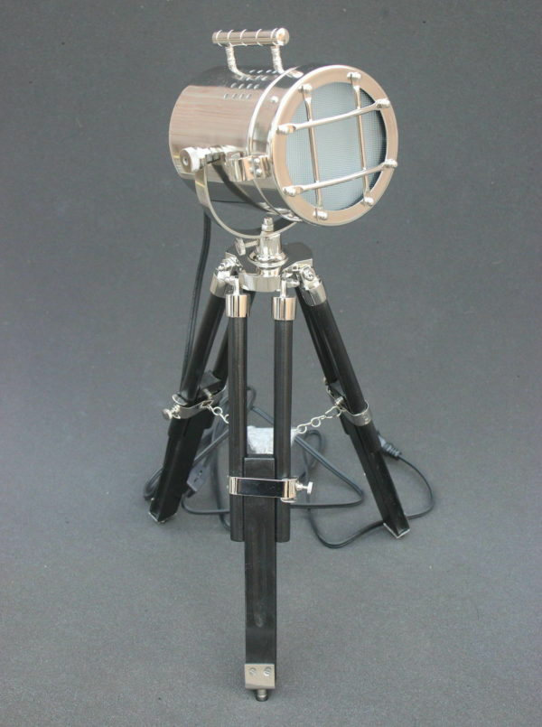 Nautical Searchlight, Table Lamp Black, Tripod Marine,spot light Theme Vintage,buy now nutical items