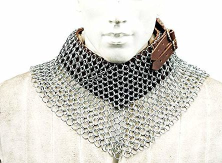 Butted Steel Chainmail Neck Armor Halloween Costume
