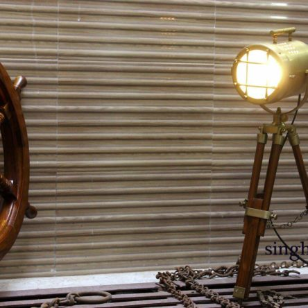 Antique Spot Light Design Vintage Nautical Table Lamp Tripod Stand