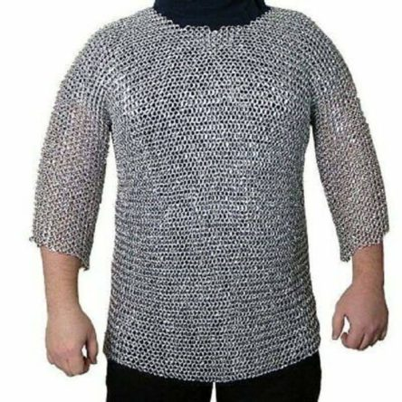 Medieval Chain mail Butted Chain Mail Armour for Role Play Theatre