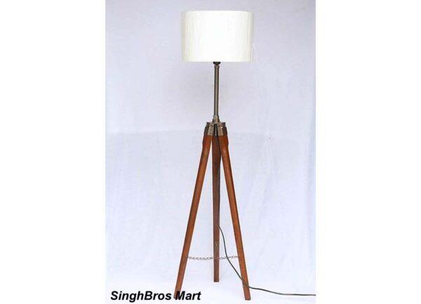 tripod table lamp wood