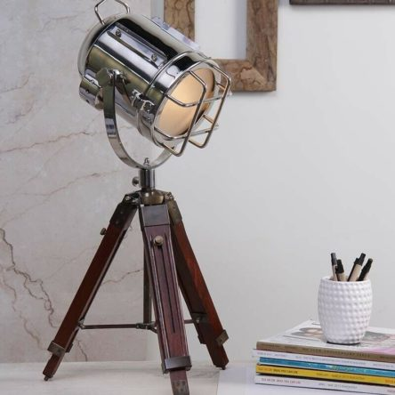 Nautical Designer Spot Light & Table Tripod Stand Home Decor