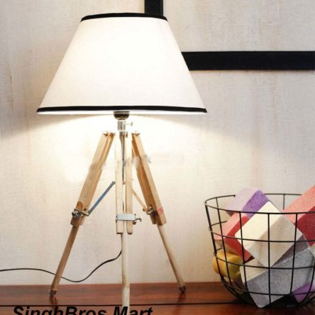 Vintage LED Table Lamp Tripod Stand